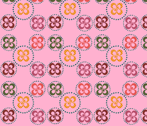dotty_pink fabric by snork on Spoonflower - custom fabric