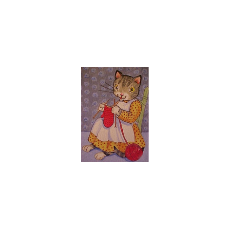 Knittin' Kitten fabric by disgusted_cats on Spoonflower - custom fabric