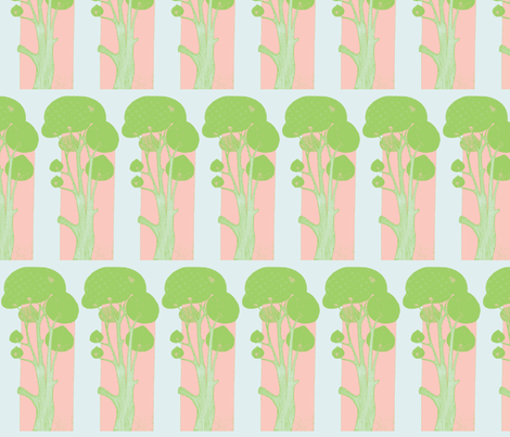 Sunrise Tree fabric by anenome on Spoonflower - custom fabric