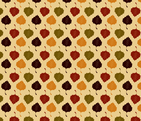 Harvest Collection - Fall Leaves Multi fabric by natalie on Spoonflower - custom fabric