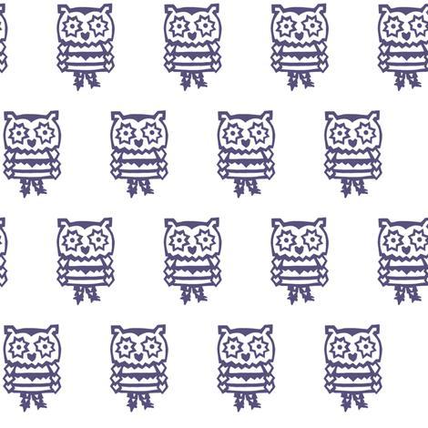 blue panda owl fabric by trollop on Spoonflower - custom fabric