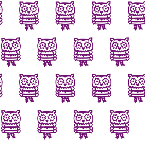 pandaowl-purple  fabric by trollop on Spoonflower - custom fabric