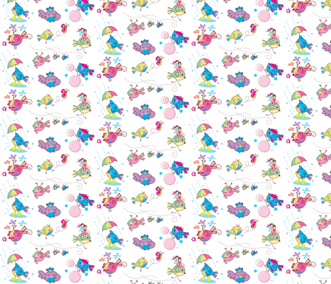 birdies fabric by malien00 on Spoonflower - custom fabric