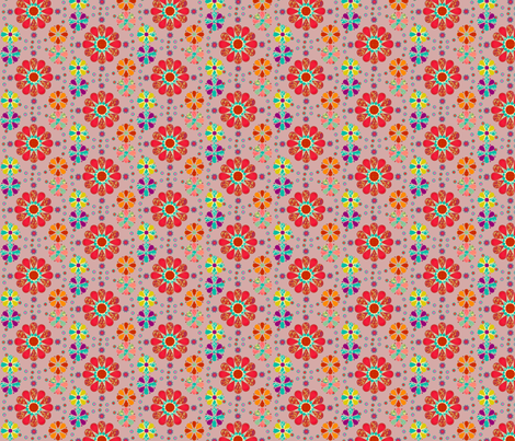 lovely_flowers2 fabric by snork on Spoonflower - custom fabric