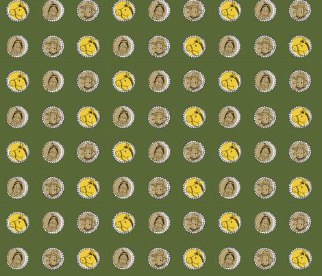western on dark green fabric by susalabim on Spoonflower - custom fabric