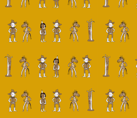 cowboys and indians fabric by susalabim on Spoonflower - custom fabric