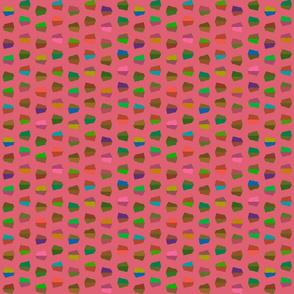 dark pink dots