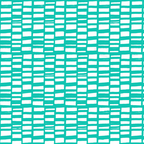 bricks aqua fabric by lola_designs on Spoonflower - custom fabric