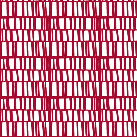 sidestep- red fabric by lola_designs on Spoonflower - custom fabric
