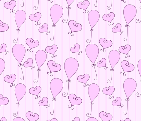 baby girl pattern fabric by suziedesign on Spoonflower - custom fabric