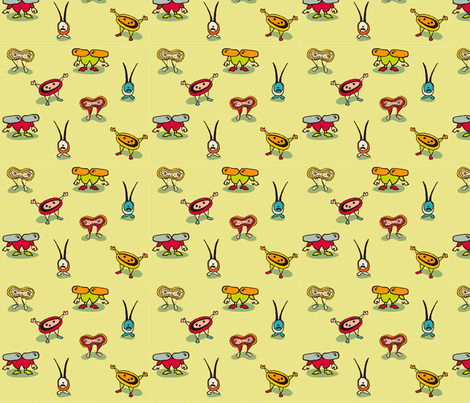 Bacterium! in green fabric by cyoungquist on Spoonflower - custom fabric