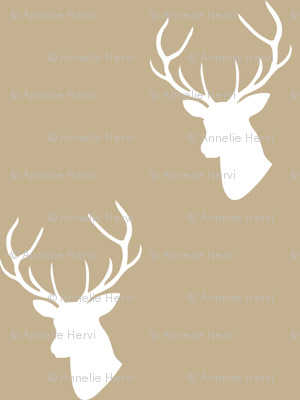 Tan Deer Silhouette