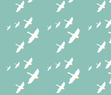 migration fabric by anieke on Spoonflower - custom fabric