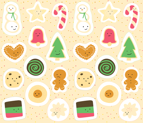 Cookies for Santa Ornament Panel fabric by wildolive on Spoonflower - custom fabric