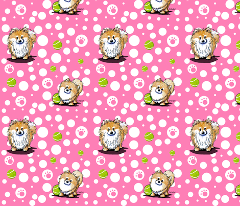 Tennis Pro Poms fabric by kiniart on Spoonflower - custom fabric