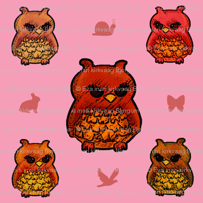 Smaller Owls Pretty Pink