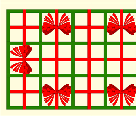 vll_xmas_ribbon_weave_with_bows_table_runner fabric by victorialasher on Spoonflower - custom fabric
