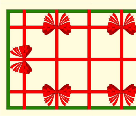 vll_xmas_ribbon_weave_with_bows_table_runner_variation fabric by victorialasher on Spoonflower - custom fabric