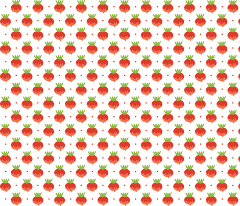 radishes fabric by anda on Spoonflower - custom fabric
