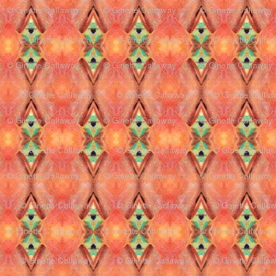 pattern Peach & Green