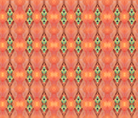 pattern Peach & Green fabric by ginette on Spoonflower - custom fabric