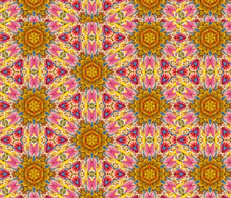 Ginette Honey Sun Pattern fabric by ginette on Spoonflower - custom fabric