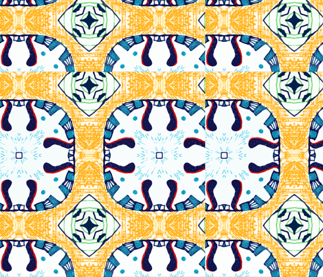 Ginette Pattern 4 (Mirror Repeat) fabric by ginette on Spoonflower - custom fabric