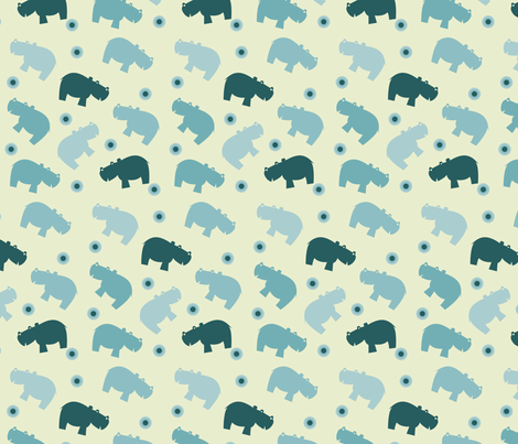 Hippopattern fabric by sukro on Spoonflower - custom fabric