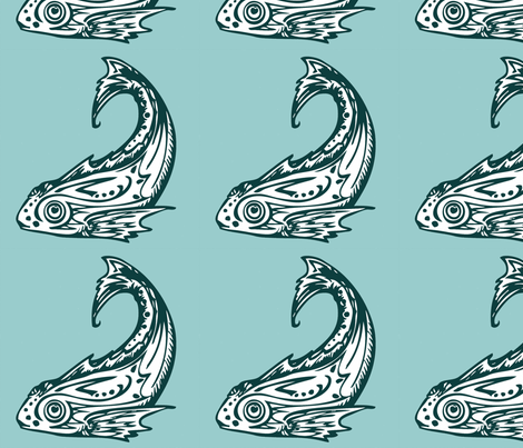 Pisces fabric by annaeas on Spoonflower - custom fabric