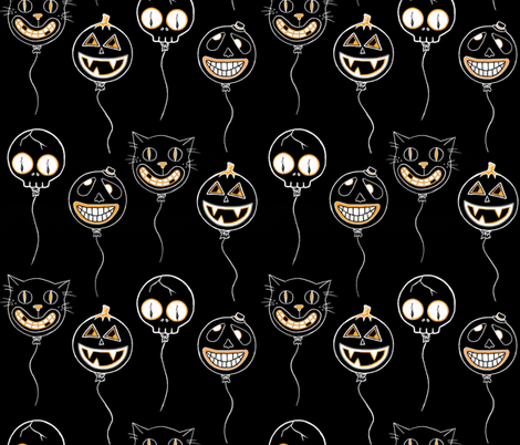 Spooky Balloons fabric by puncezilla on Spoonflower - custom fabric