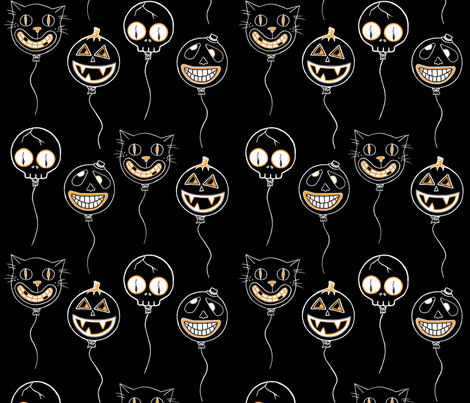 SpookyBalloons fabric by puncezilla on Spoonflower - custom fabric
