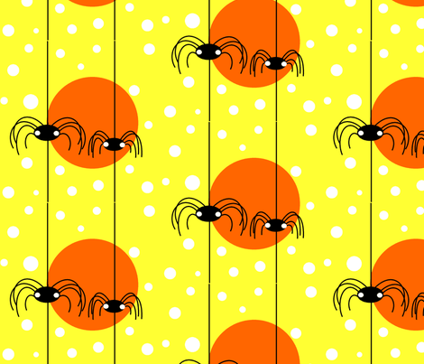 bitsy spiders fabric by geemarie on Spoonflower - custom fabric