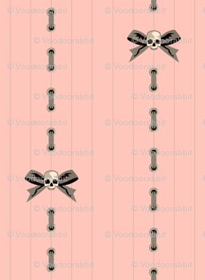 Pink Skull Pinstripe