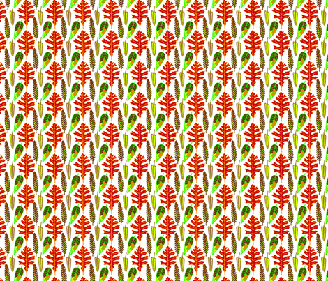 leaves fabric by madam0wl on Spoonflower - custom fabric