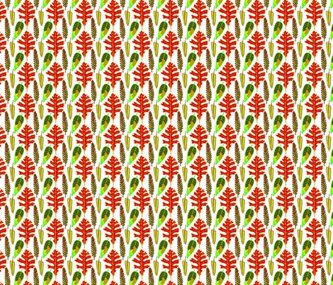 leaves fabric by madam0wl on Spoonflower - custom fabric