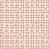 pink flower plaid