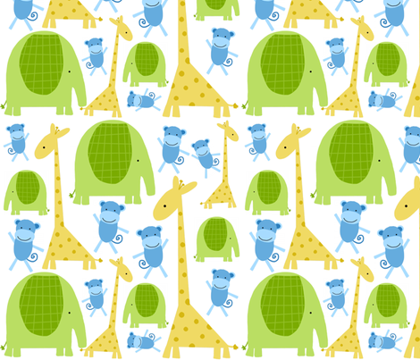 ferocious jungle 2 fabric by emilyb123 on Spoonflower - custom fabric