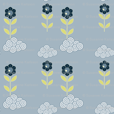 flower cloud pattern