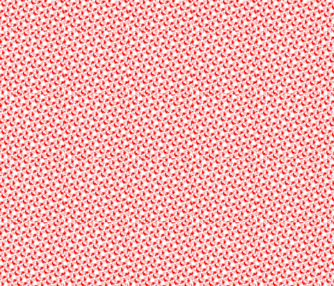 Flower-feet-pink-red fabric by andsewon on Spoonflower - custom fabric