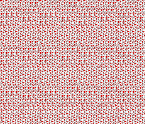 Flower-feet-pink-red-ed-ed fabric by andsewon on Spoonflower - custom fabric