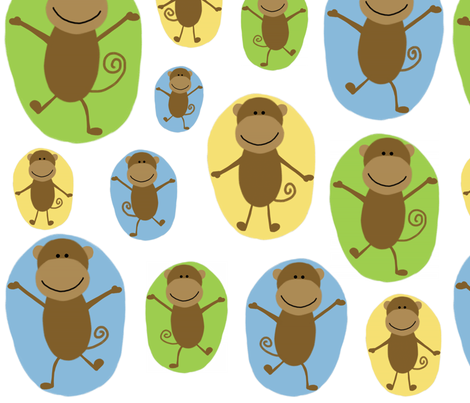 monkey see monkey do fabric by emilyb123 on Spoonflower - custom fabric
