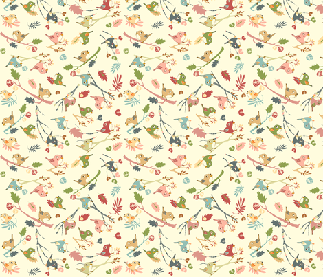 My little friends - pink fabric by peikonpoika{by}brunou on Spoonflower - custom fabric
