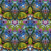 Garden Song Pattern by Ginette (Mirror Repeat)