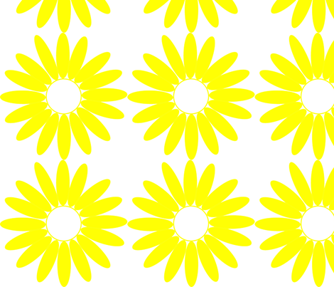 Daisy fabric by angela_s on Spoonflower - custom fabric