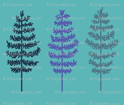 Feather Trees Blue