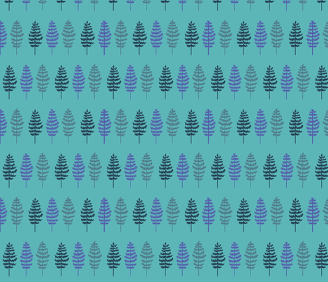 Feather Trees Blue fabric by disgusted_cats on Spoonflower - custom fabric