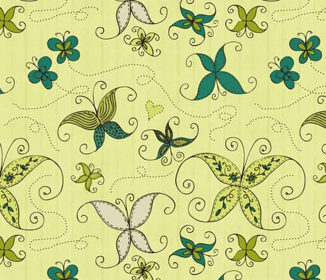 Butterflies fabric by natalie on Spoonflower - custom fabric