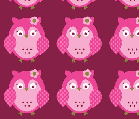 owl-single2 fabric by petunias on Spoonflower - custom fabric
