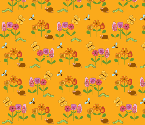 KleineMaus_Orange fabric by yvonne_herbst on Spoonflower - custom fabric