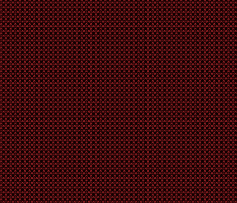 Gingham_Invaded-BlackRed fabric by voodoorabbit on Spoonflower - custom fabric